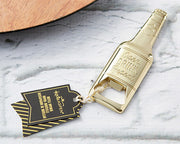 Gold Beer Bottle Shaped Bottle Opener