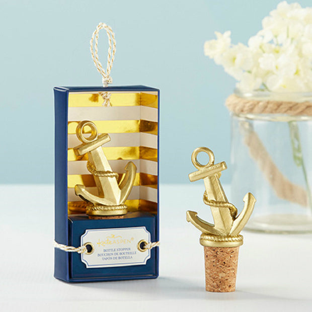 Gold Anchor Bottle Stopper