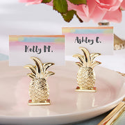 Gold Pineapple Placecard Holder