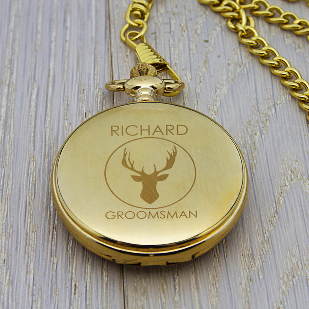 Gold Stag Pocket Watch