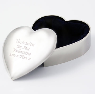 Engraved Heart Trinket Box