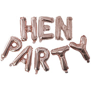 Rose Gold Foil Hen Party Balloon Bunting