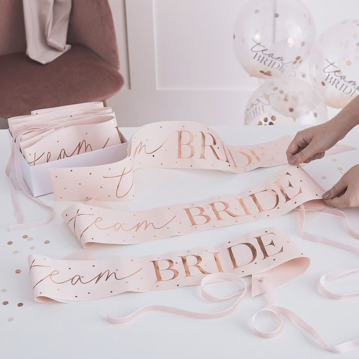 NEW ROSE GOLD Personalised Bride Tribe Bride To Be Hen Party Modern Sash
