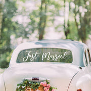 Just Married Car Sticker - Wedding Car Sticker - Just Married Car Sign - Bride and Groom Car Sign
