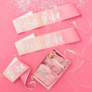 Hen Party Sashes - Bride Tribe -  Hen Night Sashes - Pink Bridal Party Sashes - Hen Party Sashes - Hen do