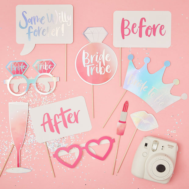 Hen Party Photo Booth Props - Hen Party Photo Booth - Hen Night Photo Booth