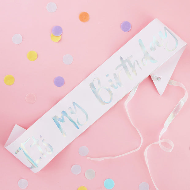 It's My Birthday Sash - Pastel Party Sash - Birthday Sash - Pastel Party Decorations