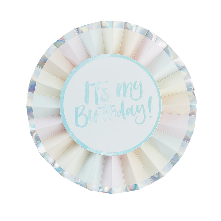 It's My Birthday Badge - Pastel Birthday Badge - Birthday Badge - Pastel Party Decorations