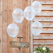 White Confetti Balloons - Confetti Balloons - Wedding Confetti Balloons - Wedding Balloons - Wedding Decorations