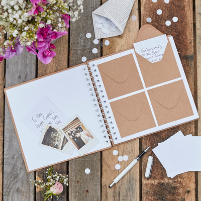 Envelope and Notecard Guestbook - Wedding Guest Book - Guest Book - Rustic Wedding - Best Day Ever Guest Book