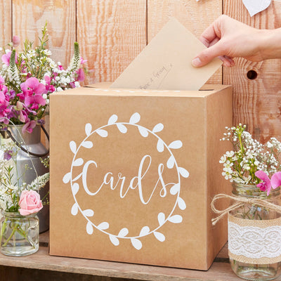 Wedding Card Box - Wedding Post Box - Box for Wedding Cards - Rustic Wedding Card Box
