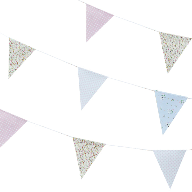 Floral Print Bunting - Rustic Country - Wedding Bunting - Wedding Decorations - Rustic Wedding Decor - Party Bunting - Floral Bunting
