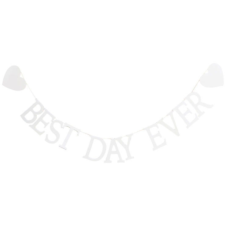 Best Day Ever Wooden Bunting- Just Married Bunting - Wedding Bunting - Wedding Decorations - Rustic Wedding Decor