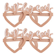 Best Day Ever Glasses - Wedding Party Glasses -Wedding Party Props - Wedding Photo Booth - Rustic Wedding