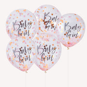 Baby Girl Confetti Balloons - Twinkle Little Star Baby Shower - Baby Shower Balloons - Gender Reveal Party - Balloons for Baby Girl