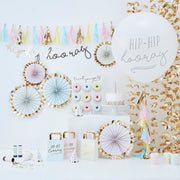 Hooray Tassel Paper Straws  - Pastel Party Straws - Birthday Straws