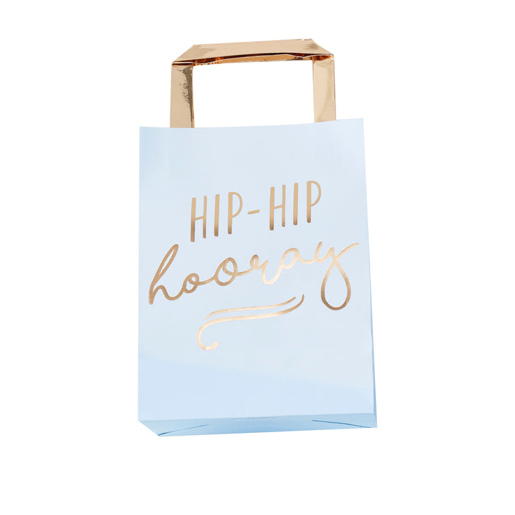 Hip Hip Hooray Pastel Blue Party Bags - Pastel Party Bags - Goodie Bags - Blue Birthday - Blue Party Bags