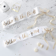 Mother of the Bride Sash + Mother of the Groom Sash - Hen Night Sashes - Hen Party Sashes - Wedding Sashes