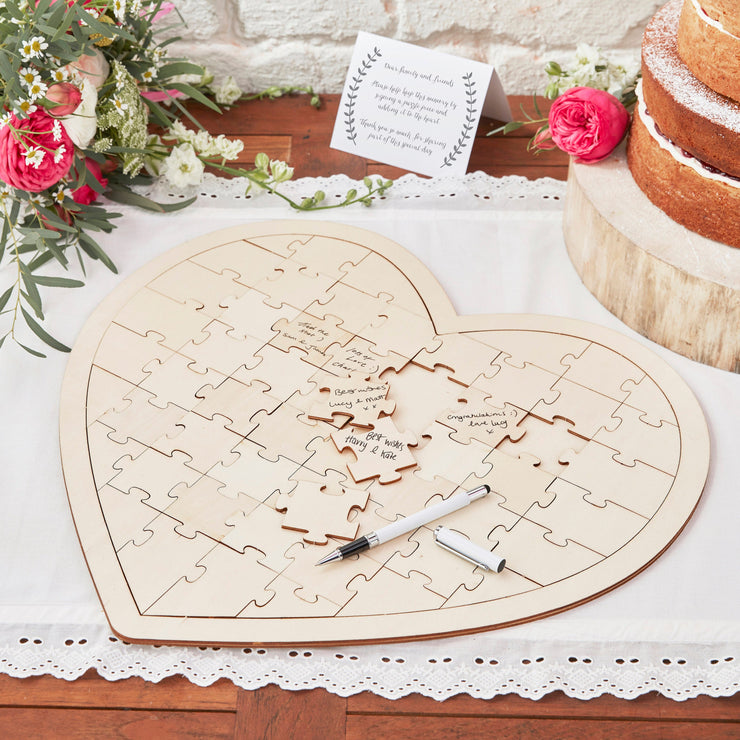 Wooden Jigsaw Guestbook Alternative, Wooden Puzzle Guest Book, Alternative Wedding Guest Book, Wedding Guestbook
