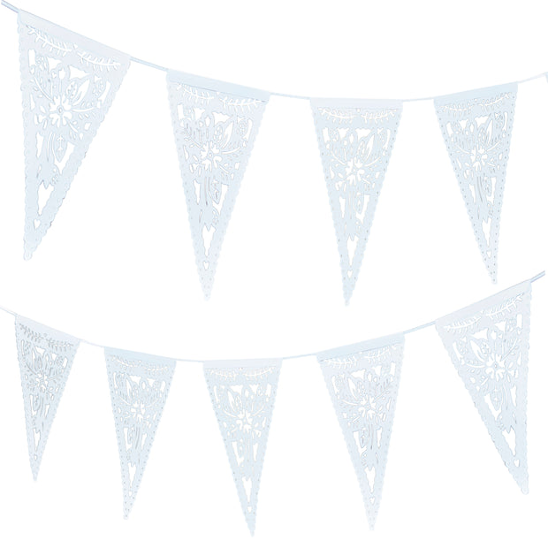 Die Cut Floral Paper Bunting -  Floral Print Bunting - Wedding Party Decorations - Floral Bunting - Summer Party Decorations