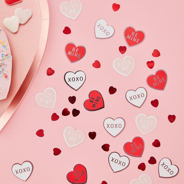 Heart Shaped Table Confetti - Be My Valentine - Valentine's Day
