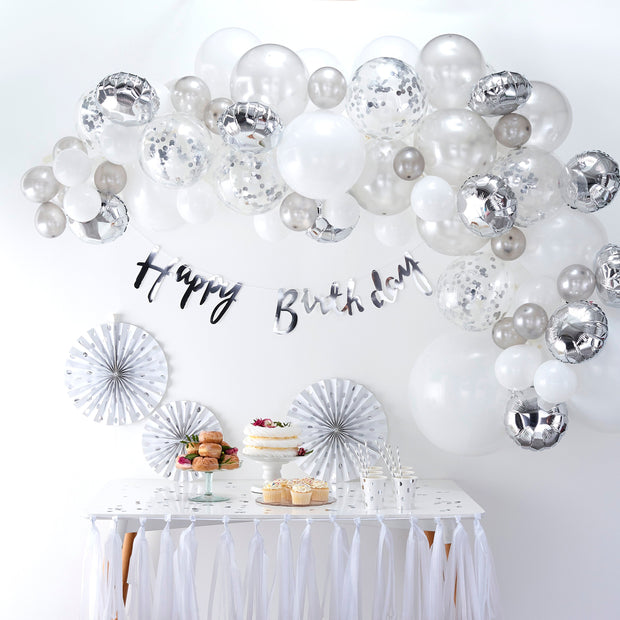 Silver Balloon Arch Kit - Balloon Arches - Wedding Balloons - Party Balloons - Balloon Backdrop - Birthday Balloons - Birthday Decor