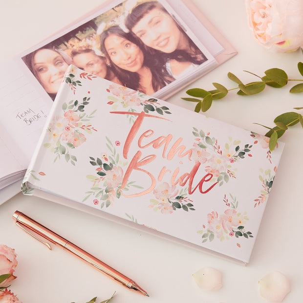 Hen Party Photo Album - Floral Hen Party - Hen Party - Hen Night - Bridal Shower - Hen Guest Book - Rose Gold Wedding