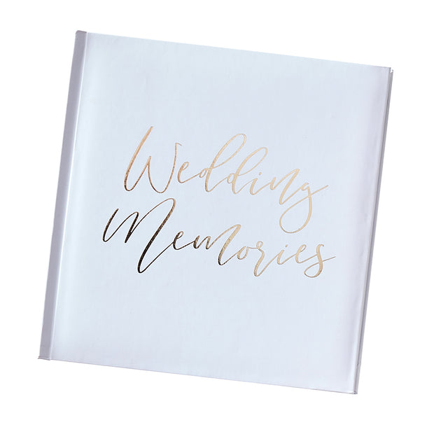 Wedding Photo Album - White and Gold Wedding Album - Wedding Memories Album - Photo Album