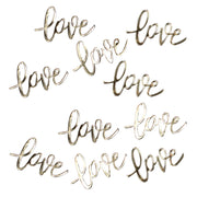 Gold Love Table Confetti - Wedding Confetti - Table Confetti - Gold Confetti - Gold Confetti for Weddings