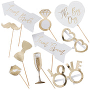 Wedding Photo Booth Props - Wedding Party Props - Wedding Photo Booth - Bride and Groom Photo Booth Props - Wedding Entertainment