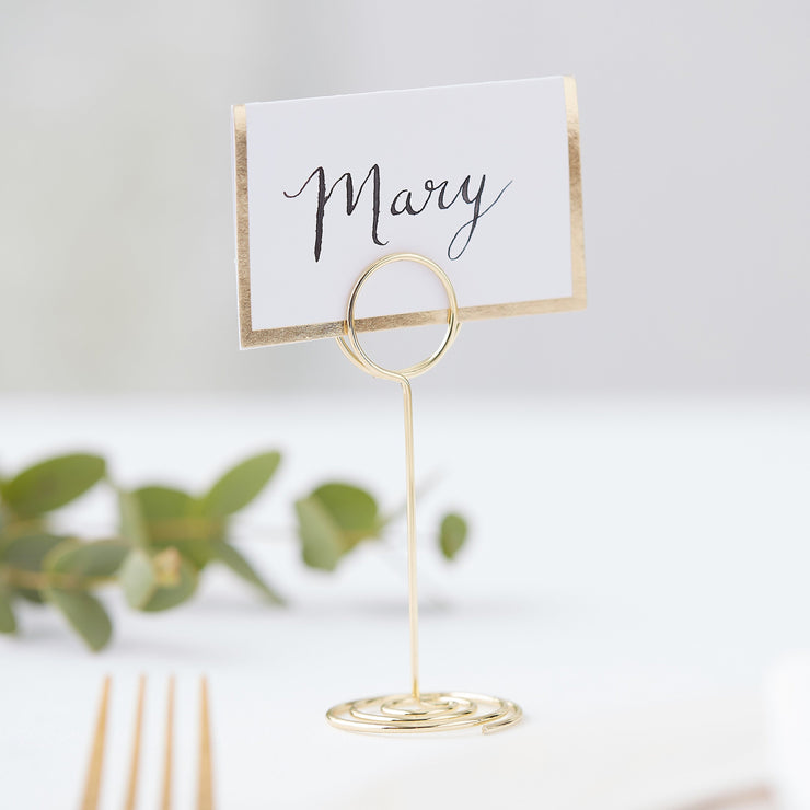 Gold Place Card Holder - Gold Mini Metal Wedding Place Card  - Name Holders - Wedding  Place Cards - Wedding Placecards