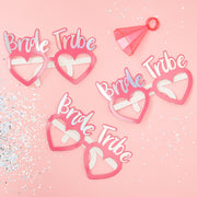 Hen Party Glasses - Pink Party Glasses -  Bride Tribe - Hen Party - Fun Glasses -  Party Glasses - Hen Party