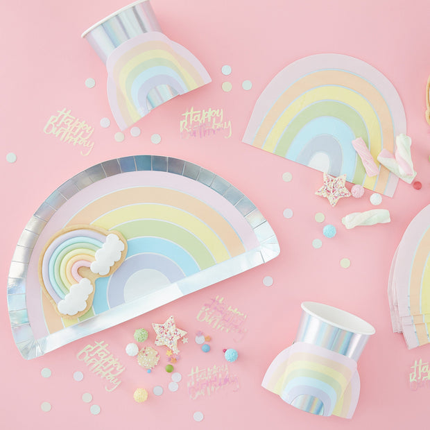 Iridescent Confetti Balloons - Confetti Balloons - Pastel Party Decorations - Party Balloons