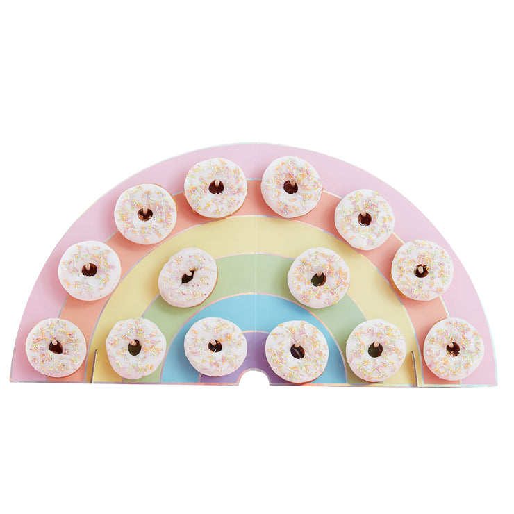 Rainbow Donut Wall -  Birthday Donut Wall - Rainbow Birthday Party - Pastel Party Decorations - Pastel Rainbow Party