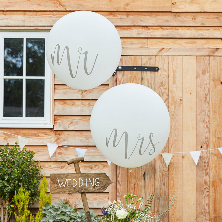 Giant Mr And Mrs Balloons - Mr and Mrs Balloons - Giant Balloons - Wedding Balloons - Wedding Decorations