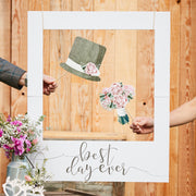 Best Day Ever Photo Booth Sign - Wedding Photo Booth Props - Photobooth Props - Wedding Decorations