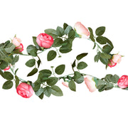 Pink Flower Garland - Pink Rose Flower Garland - Wedding Decorations - Wedding Flower Garland