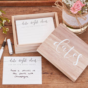 Date Nights - Wedding Guest Book Alternative - Wooden Date Nights Suggestion Box- Wedding Guest Book - Guest Book