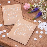 Wedding Confetti Envelopes - Sprinkle The Love Tissue Paper Confetti Pouches - Confetti Toss