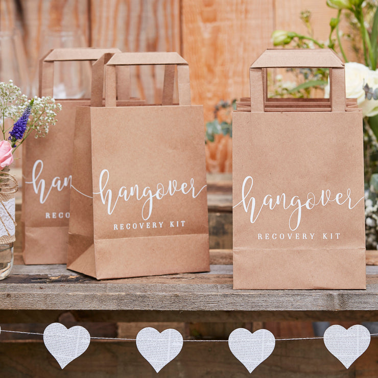 Hangover Recovery Kit Bags  - Wedding Guest Gift Bags - Hen Party Bags - Wedding Hangover Bags