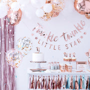 Rose Gold Star Party Plates - Twinkle Little Star Baby Shower - Rose Gold Birthday Party - Rose Gold Plates