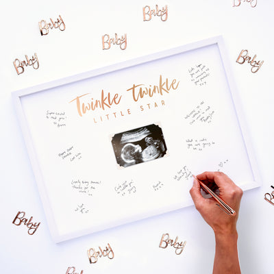 Baby Shower Guest Book Frame -  Baby Shower Guest Book - Guest Book Frame
