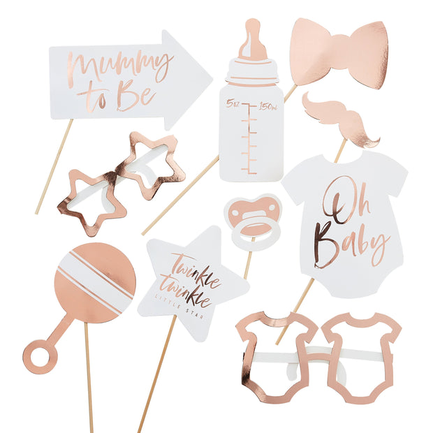 Baby Shower Photo Booth Props - Baby Shower Photo Booth - Baby Shower Games