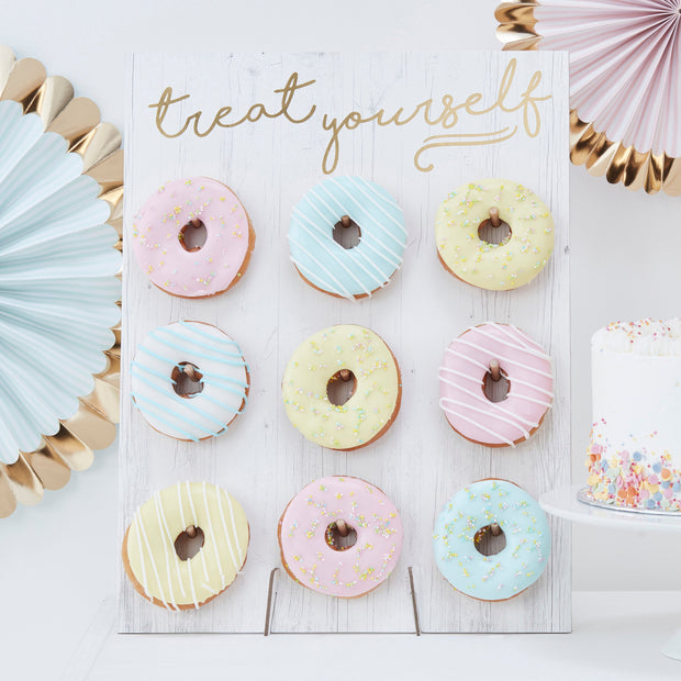 Treat Yourself Donut Wall  - Birthday Donut Wall - Donut Holder - Donut Wall - Donut Display - Party Donut Wall - Party Decorations