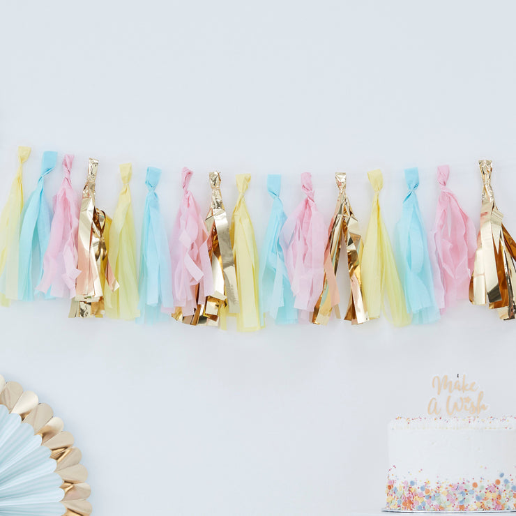 Pastel Tassel Garland  - Tassel Garlands - Pastel Party Tassel Garland  - Birthday Garlands