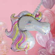 Iridescent Foiled Unicorn Balloon -  Unicorn Birthday Party - Unicorn Party - Unicorn Party Decorations - Unicorn Balloons