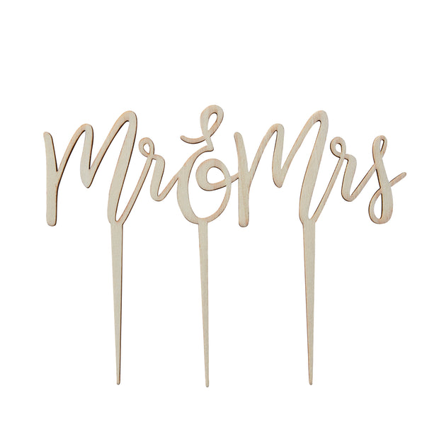 Wooden Mr And Mrs Cake Topper - Wooden Cake Topper - Wedding Cake Topper - Rustic Wedding Decorations