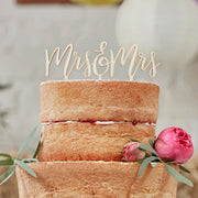 Wooden MRS And MRS Cake Topper - Wooden Cake Topper - Wedding Cake Topper - Rustic Wedding Decorations