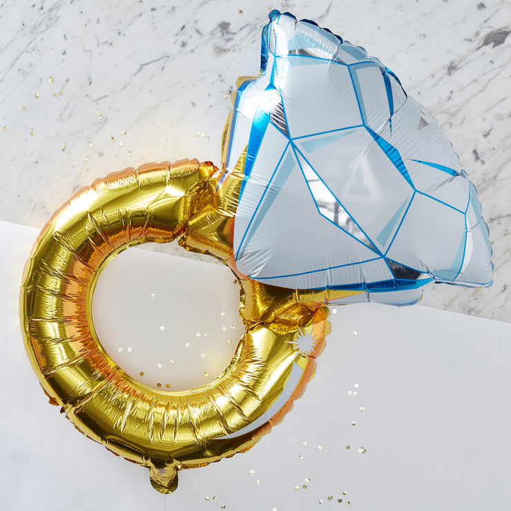 Foil Engagement Ring Balloon - Diamond Ring Balloon - Engagement Balloons - Engagement Party Balloons - Hen Party Balloons