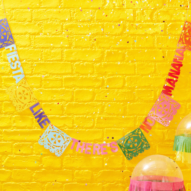 Fiesta Like There's No Manana Flag Paper Party Bunting - Viva La Fiesta, Summer Party, Colourful Summer Party Balloons